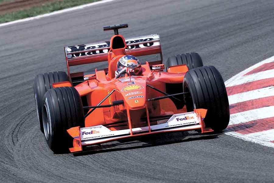Ferrari F1-2000, the first red car to guarantee Schumacher the title